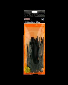 Abraçadeira preto 200mm x 2,5mm