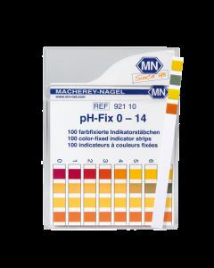 Fitas para medir o pH de 0 a 14
